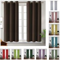 Blackout Vorhänge Thermal isoliert Room Verdunkelnde Schlafzimmer und Wohnzimmer Vorhang Massivfarbe Home Fensterbehandlungen 18 Farben HH21-260