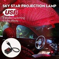 Otomatik Rotasyon Araba Tavan Yıldız Dekorasyon Işık Lazer Mini Projektör Lambaları USB LED Araba Çatı Atmosfer Işık RGB Flaş Yıldızlı Gökyüzü