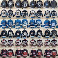 Erkekler Ters Retro Winnipeg Jets 29 Patrik Laine Jersey 26 Blake Wheener Dustin Byfuglien 55 Mark Scheifele 81 Kyle Connor Hellebuyck 13 Pierre-Luc Dubois Hokey Gray