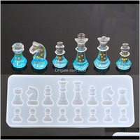 Baking Bakeware Kitchen, Dining Bar Home & Gardensile Mold For Moulds Resin International Chess Shape Diy Clay Epoxy Pendant Molds Jewelry Dr