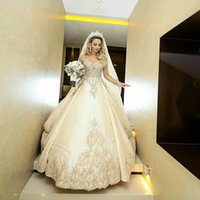 Sheer Long Sleeves A-Line Wedding Dresses Lace Appliques 2021 Beaded Bridal Gowns Formal Long Garden Robe De Marriage Custom Plus