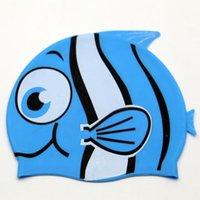 Neue Cartoon-Kinder-Silikon-wasserdichter Sonnencreme-Universal-Fisch-geformte Badekappe für Jungen und Mädchen
