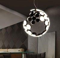 Pendant Lamps Europe Led Iron Luminaria Pendente Nordic Light Chandelier Modern Ring Lamp Industrial Bedroom