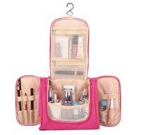 Bolsas de cosméticos Cajas de bolsas a prueba de agua Poliéster Portátil Bolsa de viaje Cuelga NECESERO Lavado Lavado Maquillaje Organizador Unisex Mujeres Almacenamiento 6JE3
