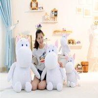 Stuffed hippo Toys 80cm 120cm Lovely white 50cm 30cm size doll 100cm Animal Plush comfortable plush Klwgx