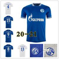 Schalke 04 Soccer Jersey Huntelaar Bentaleb Kutucu 2021 Raman Hoppe Harit Uth Skrzybski Jerseys Hombres Camisa de Fútbol Pantalones Uniformes