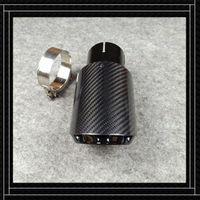 ACCESSOIRES D'ACCESSOIRES ONE PILONTES APPORTANT B-MW B-ENZ A-UDI Fibre de carbone noire brillante + acier inoxydable Tip de silencieux Pipe de tuyau de silencieux