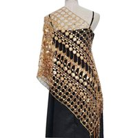 Scarves European And American Sequined Tassled Shawl Evening Dress Cheongsam Bride Bridesmaid Wedding Party