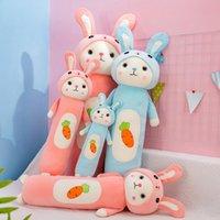 60-110 cm Bonito New Olhos Grandes Cenoura Coelho Almofada Almofada Bunny Brinquedos de Pelúcia Crianças Dola Dola Ragdoll Boneca Menina