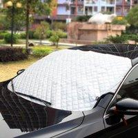자동차 햇빛 183x116cm 큰 앞 유리 덮개 겨울 바람막이 전면 커버 안티 스노우 프 로스트 아이스 방패 먼지 보호대 열 태양 매트