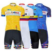 2021 Colombie Cyclisme Team Jersey Boîte de vélo Shorts Biba CiCa Ciclismo Mens MTB Shirt Summer Pro Vélo Maillot Vêtements de fond