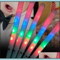 Другое событие праздничный дом GardenParty поставляет расходные материалы Colorf LED светящиеся светильника зубной нитью палочка для рождества день рождения вечеринка опоры мигающие палочки 185 с