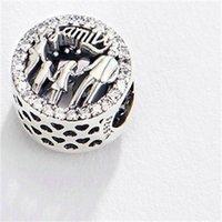 Adatto a Pandora europeo L'amore rende un perle di fascino di famiglia con braccialetti di gioielli cz braccialetti collane pendenti in argento sterling reale 925 834 R2