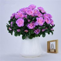 Decorative Flowers & Wreaths TN Outdoor Artificial Red Azalea Bushes High Quality UV Resistant Fake Home Decor Small Decorations For Garden
