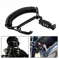 Motorcycle Helmet Lock Spring Cable Portable Bicycle Carabiner Scooter Device Safety Anti Theft Accessories Digit Combination Protection