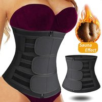 Women's Shapers Neoprene Sweat Waist Trainer Body Shaper Tummy Corset Slimming Belt Shapewear Weight Loss Belly Band Sports Girdles Workout
