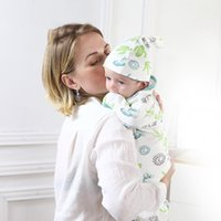 3 unids / lote Swaddling Algodón para bebés Accesorios Nacidos COCOBLES BAJAS BAJAS NACIDOS NACIDOS SWAADDLE WRAP PODLAS HYDYFILICAS