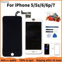 Factory LCD Display Replacement For iPhone 5s Touch Screen Digitizer Assembly For iPhone 5 6 6plus 7+Tempered Glass+Tools+Case