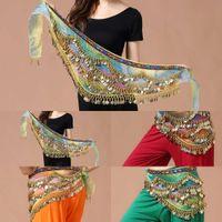 Indian performance gradient hip scarf belly dance New beginner waist chain