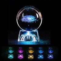 الجدة البنود الكريستال الكرة 3d غالاكسي ميلو الغزلان نموذج الزجاج غلوب مع الصمام قاعدة k9 مصباح ليلة ضوء مضيئة ملون ديكور المنزل
