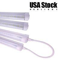 T8 LED-Röhre V-förmige LEDs integrieren Tuben 2ft 4ft 5ft 6ft 8ft 8 Fuß Doppelzeile 4 Fuß 36W 72W 100W 144W Shop Beleuchtung AC85-265V USA Bestand