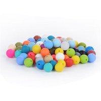 12mm silikonpärlor matkvalitet tänder pärlor ammande tuggning runda lösa pärlor färgglada diy halsband teether smycken sensory 162 w2