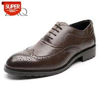 Hommes Brogue Fashion Oxford Robe Chaussures Mâle Messieur Messieur Footwear à la main pour Modern # N10G