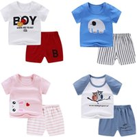 Summer Infant Newborn Baby Boy Children Clothing Sets for Girls Kids T-Shirt Shorts 2PCS Outfits Cotton Casual Clothes
