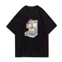 Camisetas para hombre para hombre 2021 Casual Flojo Flojo Manga Tops Hip Hop Streetwear Tshirts Harajuku Creevie Caballo Flamingo Imprimir Tshirts Camisetas