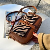 Shoulder Bags Texture Women's Small Hangbag 2021 Fashion Zebra Bodycross Bag Women Messenger Square Ladies Gift