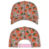 Ball cap high quality strawberry baseball cap summer sun hat outdoor adjustable men's and women's caps