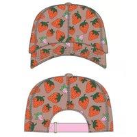 Top kap yüksek kaliteli çilek beyzbol şapkası yaz güneş şapka açık ayarlanabilir erkek ve kadın kapaklar