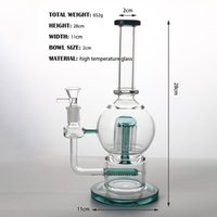 High temperature glass green 14mm spherical flat creative filter hookah