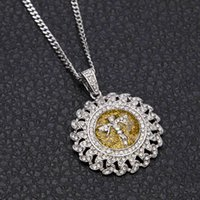 HIP HOP INTLAID ANGER GOLD ROSE POINT DIAMANT CHAÎNE CUBAN ROMMED Collier rond rond