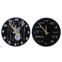 Industrial moderno relógio de parede arte americana personalidade sala de estar relógios de escritório em casa escola decoração vintage nhd6220
