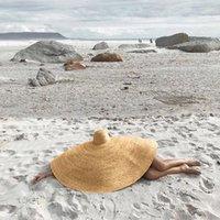 أزياء 27 سنتيمتر واسعة بريم المتضخم شاطئ القبعات للنساء كبيرة القش قبعة uv حماية الصيف طوي الشمس الظل بوغراف
