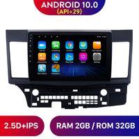 """Android 10.0 Auto DVD Stereo GPS Radio Player per 2008-2014 2015 Mitsubishi Lancer-ex core con FM 10.1 """"SWC"""