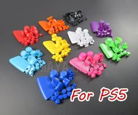 For PS5 Game Controller Full Buttons Joystick Key Replacement Cover Cap for PS5 L1 R1 L2 R2 Gamepad Handle Accessories