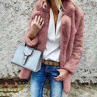 Women's Fur & Faux Womens Fluffy Coat Jackets Teddy Bear Cardigan Autumn Winter Warm Outwear Long Sleeve Casual Loose Top Fashion Clothes