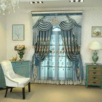 Curtain & Drapes Classic Gorgeous Chinese Classical Hollow Water Soluble Embroidered Cord Curtains For Living Room Bedroom