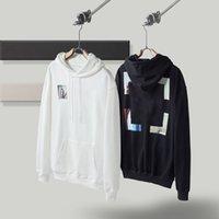 2022 Hoodies Mens Womens Fashion Streetwears Man S Pullover Winter Sweatshirts Loose Hooded Off Designers Clothing high quality Street Print White Hoody