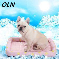OLN 여름 방열 패드 대형 개 침대 애완 동물 냉각 통기성 빨 수있는 소프트 접이식 상쾌한 210716