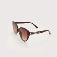 Hohe Qualität Mode Frau Sonnenbrille Occhiali da Sohle Katze Augenbrillen Herren Sonnenbrille Gafas de Sol Braun Gradient Objektiv Frauen Brillen 3769