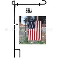 Garden Flag Stand Flagpole Black Flag Pole Garden Metal Stand Flagpoles Flags Banner Holder Outdoor Yard Decorations 2853 Q2