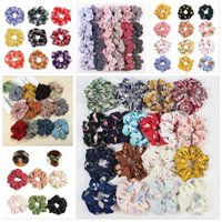 Plaid Scrunchy Hairbands Grid Hair Holder Rope Scrunchie Ponytail Headband Headdress Rubber Band Fashion Houndstooth Hair Accesorios DYP6455