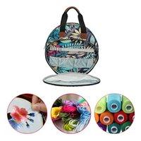 Sacos de armazenamento agulhas bordados threads kit punch caneta agulha saco de artesanato para diy costura tecelagem knit acessórios