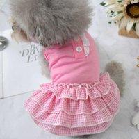 كلب الملابس الراحة تبريد فساتين الحيوانات الأليفة للوردي الأسود الأزرق XS XXL المتوسطة منقوشة جرو القط الزي ازياء الصلصال كلب صغير الزوايا