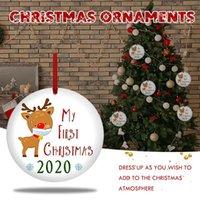 Tebrik Kartları 2021 Noel Süsler Asılı Dekorasyon Hediye Ürün Kişiselleştirilmiş Aile Süslemeleri Ev Parti Yılı için