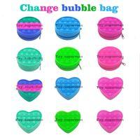 Mini Fidget Toys Bag Colorful Push Bubble Sensory Squishy Stress Reliever Autism Needs Anti-stress Rainbow Toy For Children Adult