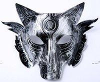 Newwolf Mask Party Halloween Masquerade Hombre lobo Mill Máscaras Facenas Facenas adultos Masculino y femenino Wolfs Headmasquerade Horrormask EWE5405